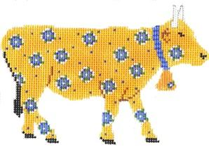 click here to view larger image of Yellow Cow (hand painted canvases)