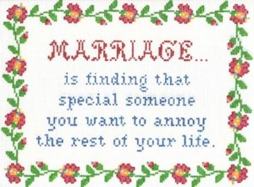 click here to view larger image of Marriage Is (hand painted canvases)