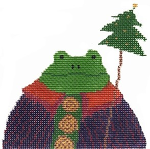 click here to view larger image of Frog Ornament (hand painted canvases)