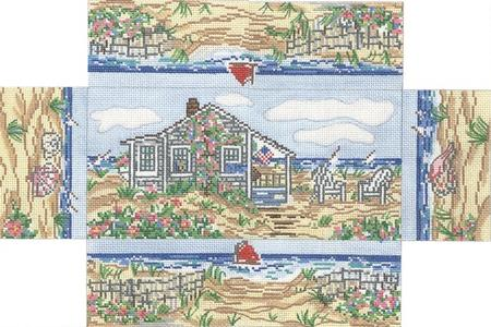 click here to view larger image of Cottage Brick Cover (hand painted canvases)