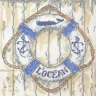 click here to view larger image of L'Ocean (hand painted canvases)