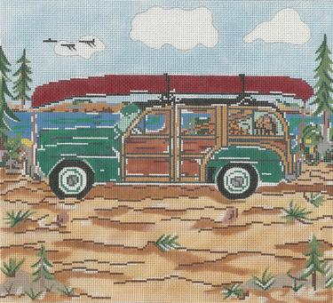 click here to view larger image of Mountain Woody - 13ct (hand painted canvases)