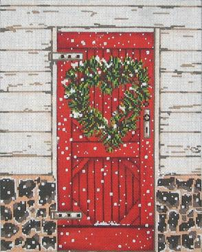 click here to view larger image of Red Door (hand painted canvases)