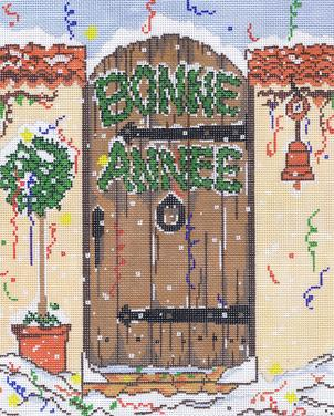 click here to view larger image of Bonne Annee (hand painted canvases)