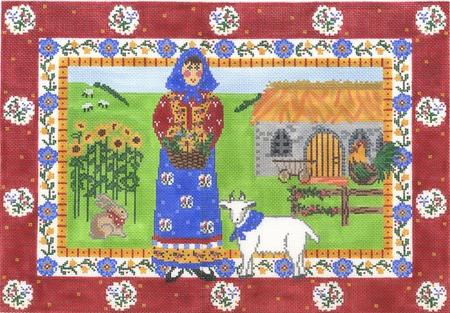 click here to view larger image of French Farm (hand painted canvases)