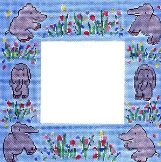 click here to view larger image of Elephant Frame (hand painted canvases)