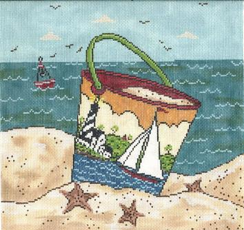 click here to view larger image of Sailing By The Sea (hand painted canvases)