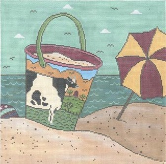 click here to view larger image of Bessie By The Sea (hand painted canvases)