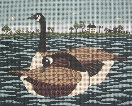 click here to view larger image of Cowie Canada Geese (hand painted canvases)