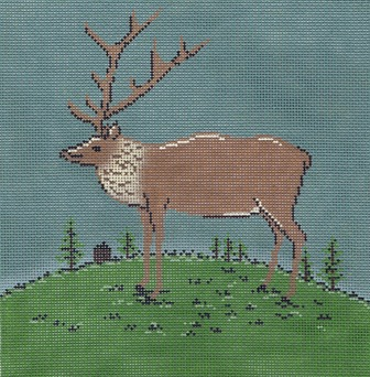 click here to view larger image of Folk Elk (hand painted canvases)