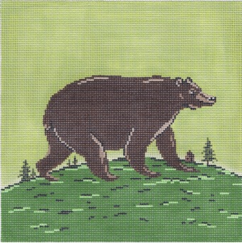 click here to view larger image of Folk Bear (hand painted canvases)