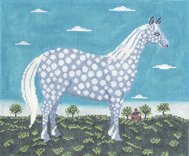 click here to view larger image of Dappled Horse, The (hand painted canvases)