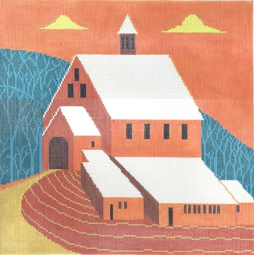 click here to view larger image of Mr Pidgeons Barn (hand painted canvases)