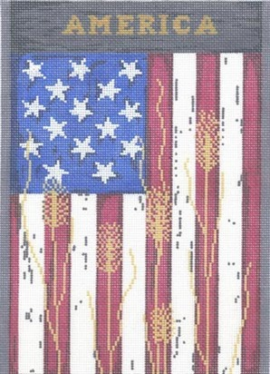click here to view larger image of America - 13ct (hand painted canvases)