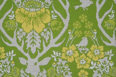 click here to view larger image of Antler Damask - Basil (hand painted canvases)