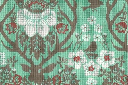 click here to view larger image of Antler Damask - Celadon (hand painted canvases)