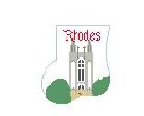 click here to view larger image of Rhodes College, Memphis Mini Sock (hand painted canvases)