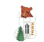 click here to view larger image of U Of The Pacific With Tiger Mini Sock (hand painted canvases)