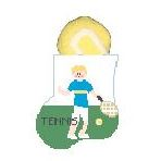 click here to view larger image of Tennis Boy With Ball Mini Sock (hand painted canvases)