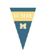 click here to view larger image of U Of Michigan Pennant (hand painted canvases)