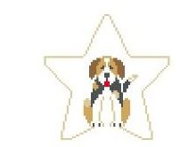 click here to view larger image of Beagle Star (hand painted canvases)