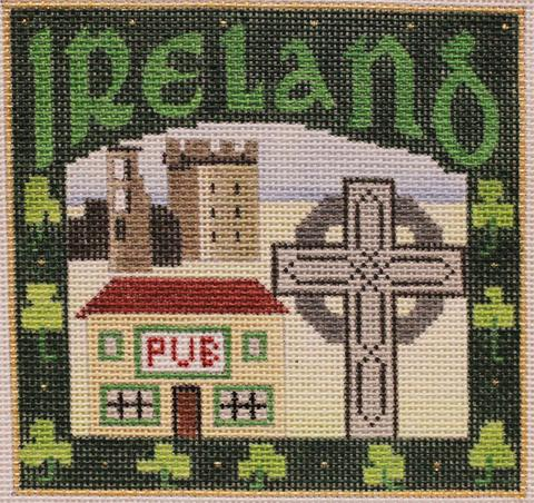 click here to view larger image of Postcard - Ireland (hand painted canvases)