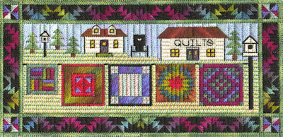 click here to view larger image of Airing the Quilts (counted canvas work)