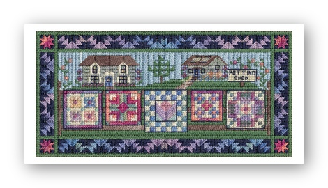 click here to view larger image of Airing the Spring Quilts (counted canvas work)