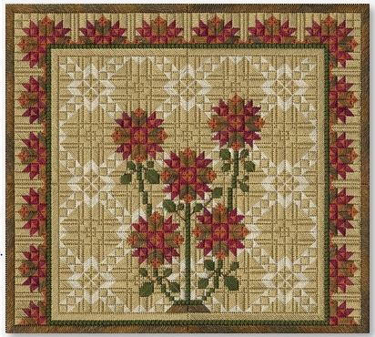 click here to view larger image of Autumn Mums (counted canvas work)