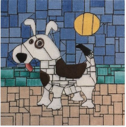 click here to view larger image of Beach Doggie (hand painted canvases)