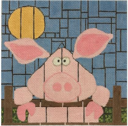 click here to view larger image of Pinkie Piggy (hand painted canvases)