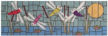 click here to view larger image of Summer Dragonflies (hand painted canvases)