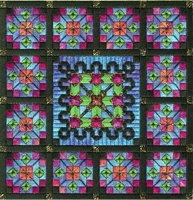 click here to view larger image of Stained Glass Quilt (counted canvas work)