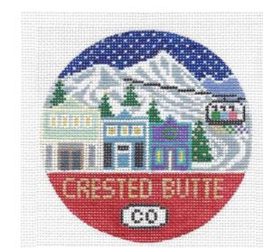 click here to view larger image of Crested Butte Round (hand painted canvases)