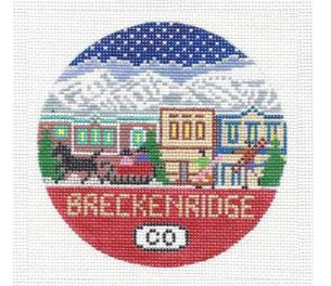 click here to view larger image of Breckenridge Round (hand painted canvases)