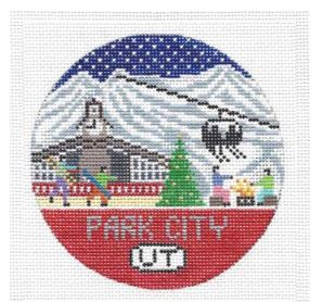 click here to view larger image of Park City Round (hand painted canvases)