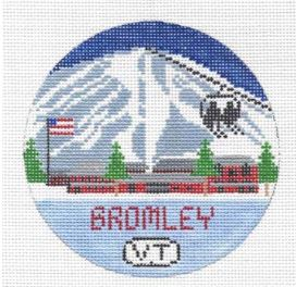 click here to view larger image of Bromley Mountain Round (hand painted canvases)