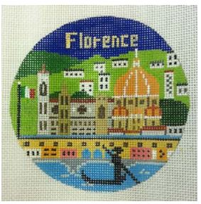 click here to view larger image of Florence Round (hand painted canvases)