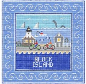 click here to view larger image of Block Island Square (hand painted canvases)
