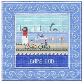 Cape Cod Square hand painted canvases