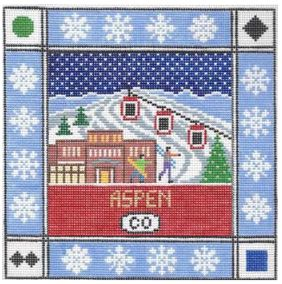 click here to view larger image of Aspen Square (hand painted canvases)