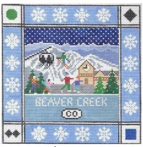 click here to view larger image of Beaver Creek Square (hand painted canvases)