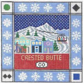 click here to view larger image of Crested Butte Square (hand painted canvases)