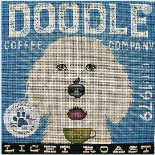 click here to view larger image of Doodle (Light Roast) (hand painted canvases)