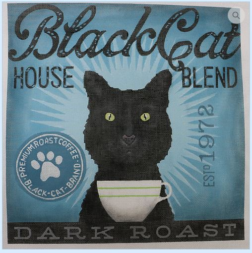 click here to view larger image of Black Cat (House Blend) (hand painted canvases)