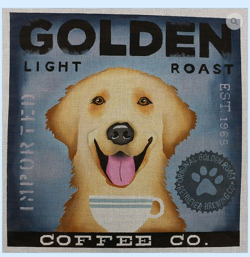 click here to view larger image of Golden Lab (Light Roast) (hand painted canvases)