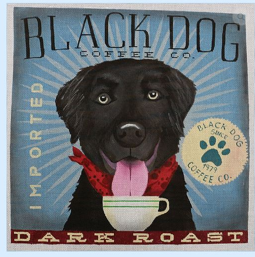 click here to view larger image of Black Dog (Dark Roast) (hand painted canvases)