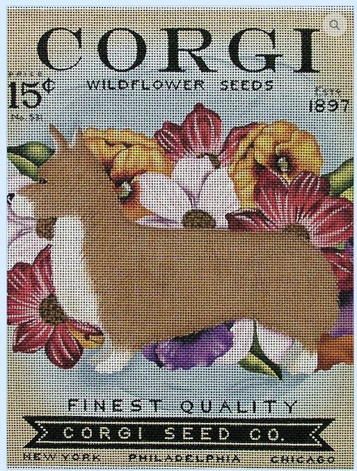 click here to view larger image of Corgi Widflower Seeds (hand painted canvases)