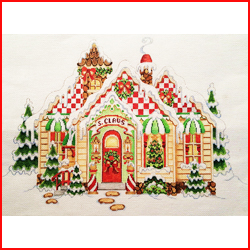 click here to view larger image of Santa Claus House (hand painted canvases)