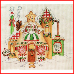 click here to view larger image of North Pole Cookie Factory (hand painted canvases)